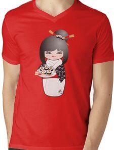 Kokeshi Sushi Mens V-Neck T-Shirt