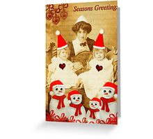 Christmas with the twins, v2.0! Greeting Card