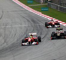 Ferarri's Massa overtakes Lotus Renault's Petrov by 3rdeyelens