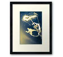 Lightbulb moment Framed Print