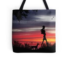 Walking the dog (Series) Tote Bag