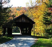 Covered Bridge in Fall by Greg Meland