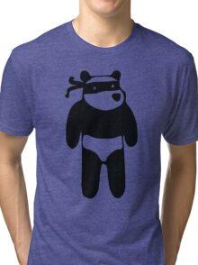 Ninja Panda Tri-blend T-Shirt