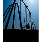 Abandoned Swing Set (iPhone Case) by Malc Foy