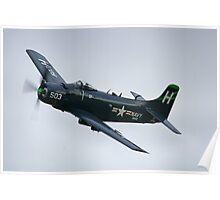Douglas AD-4N Skyraider at Duxford Poster