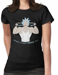 Rick and Morty - Big Rick Swole Patrol Womens Fitted T-Shirt