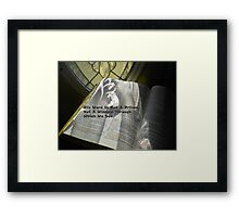 His Word Framed Print
