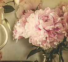 Painted Peonies -- Botanical Still Life by Virginia Sanderson