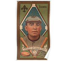 Benjamin K Edwards Collection Barney Pelty St Louis Browns baseball card portrait 003 Poster
