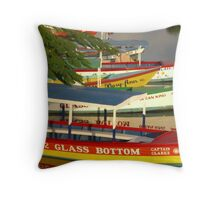 Negril River Throw Pillow