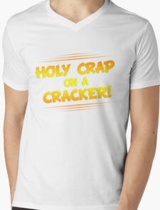 Holy Crap on a Cracker Mens V-Neck T-Shirt