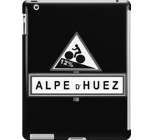 Alpe D'huez Cycling Road Sign Black and White iPad Case/Skin