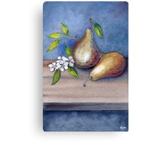 Watercolor 3 Pears Canvas Print