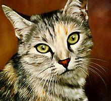 Cute Cat by ellenspaintings