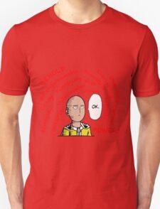one punch man saitama ok funny anime manga shirt T-Shirt