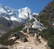 Stupa at Thame, Khumbu Region of Nepal by Jan Vinclair