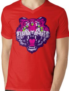 Seven-Eyed Tiger Mens V-Neck T-Shirt