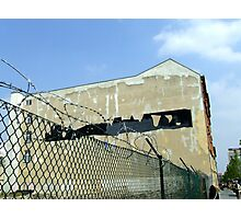 Dangerous realm of graffiti removal Photographic Print