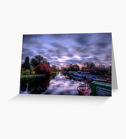 Barrow Sunrise In Motion Greeting Card