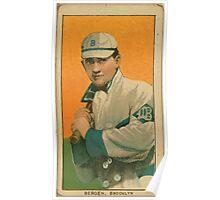 Benjamin K Edwards Collection Bill Bergen Brooklyn Dodgers baseball card portrait 001 Poster