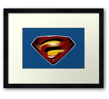 Superman Reverse Framed Print