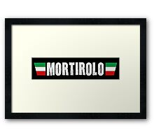 Mortirolo Cycling Italian Colors Shirt Framed Print