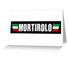 Mortirolo Cycling Italian Colors Shirt Greeting Card