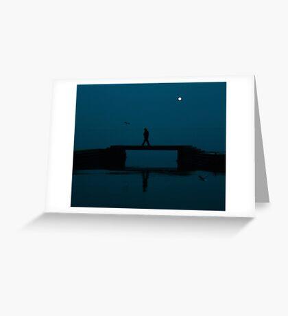 Night walk Greeting Card