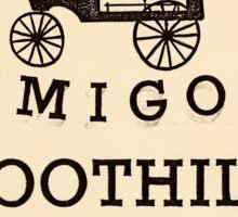 Adios Amigos Boot Hill Sticker