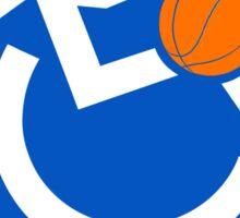 Wheelchair Basketball Just Hit It Sticker
