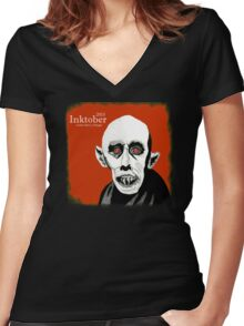 Nosferatu Intober 2015 Women's Fitted V-Neck T-Shirt