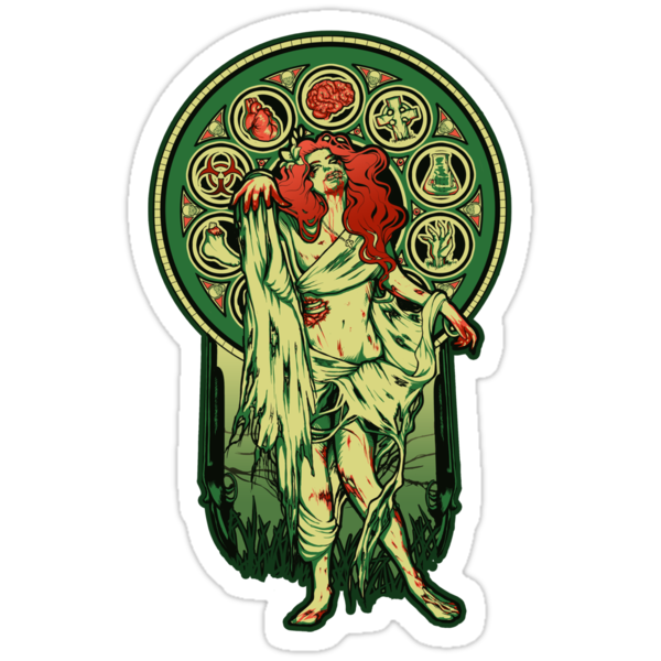 Zombie Nouveau - STICKER by MeganLara