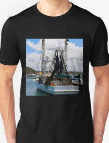 Moored Boat in Harbour Unisex T-Shirt