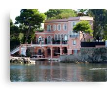 David Niven Villa On Cap Ferrat Canvas Print