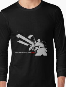 trigun nicholas d wolfwood mercy cross anime manga shirt Long Sleeve T-Shirt