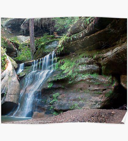 Waterfall, Cedar Falls Area, Hocking Hills State Park Poster