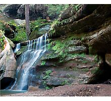 Waterfall, Cedar Falls Area, Hocking Hills State Park Photographic Print