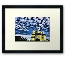 God's Palace on the Hill, Alberta, Canada Framed Print