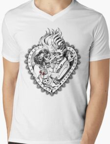 Day of the Dead Ancient Lovers Mens V-Neck T-Shirt