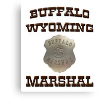 Buffalo Marshal Canvas Print