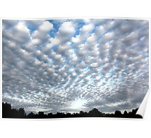 clouds over southeast missouri Poster