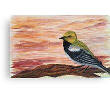 Goldfinch Among Sunset Sky  Canvas Print