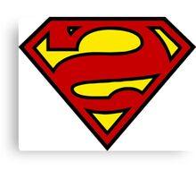 Reverse Superman Logo Canvas Print