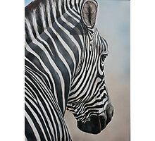 Zebra Look Photographic Print