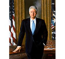 President Bill Clinton Painting Photographic Print