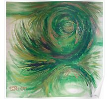 Green curves Poster