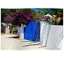 WALKING BY THE BLUE  GATE......! Poster