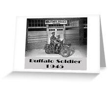 Buffalo Soldier MP Greeting Card