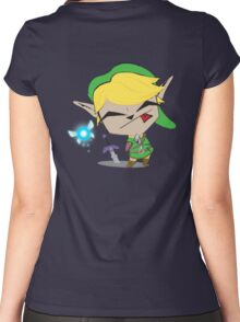 Link-Gir (full size) Women's Fitted Scoop T-Shirt