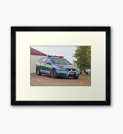 Holden Police Car -  Royal Hobart Show Tasmania 2011 Framed Print